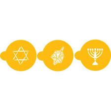 "Designer Stencils Decorating Stencil Jewish Symbols Tops 1.5"""
