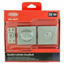 Lockwood Square PARADIGM 005 DOUBLE CYLINDER DEADBOLT Safety Release Lock Alert