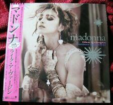 MADONNA SEALED VIRGIN & OTHER BIG HITS JAPAN PROMO OBI PICTURE VINYL LP DISC LOT