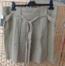 "United Colors Of Benetton 100% Linen Summer Skirt Bnwt Size 42 Khaki Medium 35""w"