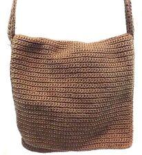 THE SAK Women's Handbag, BROWN Woven SHOULDER BAG Purse Medium Mint condition