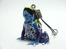 Kaiyodo KITAN CLUB Blue & Yellow Poison dart Frog Keychain mini figure figurine