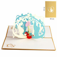 3D Pop Up Greeting Card Birthday Wedding Valentine Mother's Day [Mother and I]