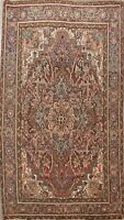 Rust Vintage Geometric Traditional Area Rug Hand-Knotted Oriental Carpet 7x10