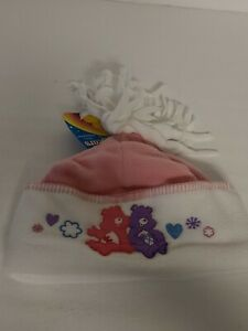 Care Bears Girls Headwear Soft Warm Hat White/Pink Concept One 2006 NEW NOS