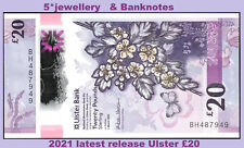 More details for 2021 ulster bank ltd belfast £20 banknote n ireland new polymer money curency