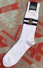 Nos Deadstock 80's 90's Ralph Lauren Polo Stadium Crest Stripe Tube Socks