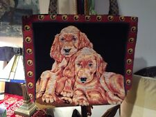 Nice Rich Colored  Shoulder Tote Bag  with Puppy Print - with Black Liner Inside