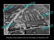 OLD LARGE HISTORIC PHOTO DAGENHAM LONDON ENGLAND THE BRIGGS CAR WORKS c1950