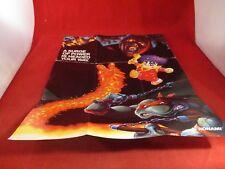 Konami Super Nintendo SNES Foldable Promo Poster Insert ONLY TMNT Castlevania B1