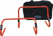 "Set  6"" or 12"" adjustable hurdles soccer fitness speed training aid agility"