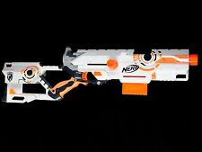 Nerf N-Strike Long Strike Whiteout Blaster Dart Gun w/ Clip Works