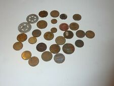Lot of 28 Vintage Tokens Coins Arcade/Amusement Park/Casino? Other? 1980s/90s+