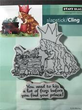 New Cling Penny Black RUBBER STAMP MO MANNING VALENTINES KISSING FROGS LOVE