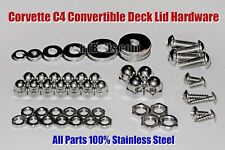 1986 - 96 Corvette C4 Convertible - Deck Lid Upgrade - Stainless Nuts & Bolts