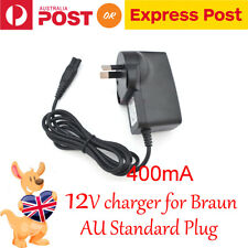 12V AU Shaver Charger Power Lead Cord For Braun Series 3 310, 320, 330, 340, 350