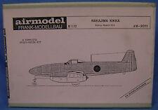 RARE AIRMODEL KIT OF A NAKAJIMA KIKKA EPOXY RESIN MODEL AIRPLANE KIT