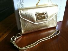 iPhone 4 / 4S  Michael Kors Wallet Wristlet Case In Gold Leather