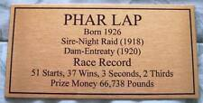 Phar Lap Gold Plaque **Free Postage