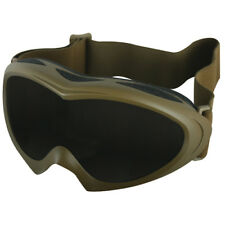 NEW - Military Tactical SAHARA GOGGLES Shatterrpoof UV - Desert Coyote TAN