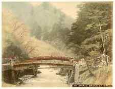 Japon, sacred bridge at Nikko vintage albumen print, Japan, 日本 Tirage albuminé