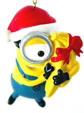 Carl- Despicable Me-Minion Ornament-Santa Hat and Bananas-Holiday!