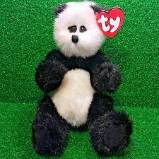 Rare Ty Attic Treasures Checkers The Panda 1993 Retired Jointed Plush Bear MWMT