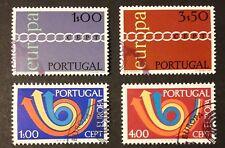 CEPT Ausgaben 1971 + 73 Portugal Teilsätze Mi-Nr. 1127/28 und 1199/00 gestempelt