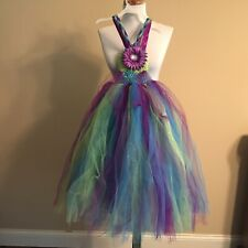 Childrens Photography Dress Princess TuTu Sleeveless Purple/Green/Blue- Handmade