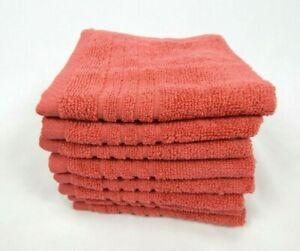 Colormate Soft & Plush Cotton 8-Pack Washcloths Set - Deep Purple, Garnet Rose