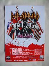 DEF LEPPARD/Motley Crue Live in Concert 2011 UK Arena Tour RARE Promo tour flyer