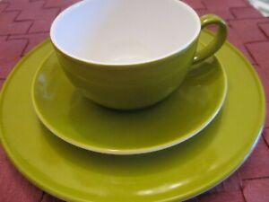 Dibbern Solid Color Kaffeegedeck 3tlg. frischer Ton: maigrün