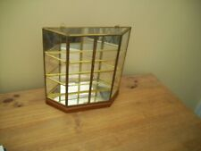 Vintage Style Curio Display Cabinet Brass Glass VGC