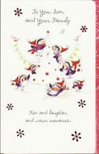 Christmas Greeting Card, TO YOU SON AND YOUR FAMILY