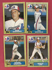 1987 TOPPS MONTREAL EXPOS RODGERS + DAWSON + WALLACH + LAW  CARD