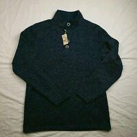RedHead Men's Pullover Shirt L Tall Long Sleeve 1/4 Button Casual Dark Blue