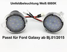 2x TOP LED SMD Runde Umfeldbeleuchtung Weiß 6000K Ford Galaxy ab Bj.01/2015 7909