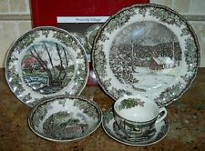 """Johnson Brothers """"FRIENDLY VILLAGE"""" 5 Piece Place Setting~England~NEW in Box!"""