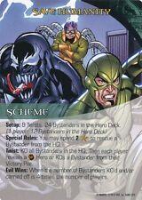 VENOM/DOC OCK/SCORPION Upper Deck Marvel Legendary SCHEME SAVE HUMANITY