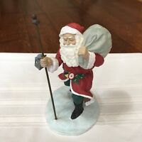 Hallmark Heirloom Collection A Joyous Christmas 1990 Santa w/ Staff Bag Lantern