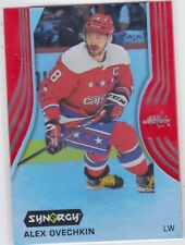 19/20 SYNERGY...ALEX OVECHKIN...RED PARALLEL....CARD # 25...CAPITALS