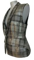 NEW, DRIES VAN NOTEN SILVER VEST, 40, $995