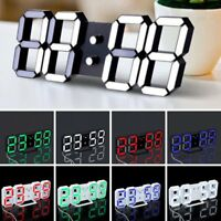 LED Digital Large Jumbo Snooze Wall Room Desk Calendar Alarm Clock Display CY