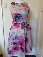 Roman Originals Floral Flare 50s Rockabilly Dress Size 10