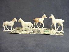 AUBURN: Young Horses, 4 Vintage Ponies & Colt, Toy Models for Farm Play Sets