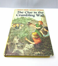NANCY DREW MYSTERY STORIES THE CLUE IN THE CRUMBLING WALL HARDCOVER BOOK **