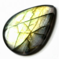 Cts. 31.85 Natural Multi Fire Labradorite Cab Pear Cabochon Loose Gemstone