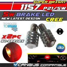 *2x 5w CREE RED CANBUS ERROR FREE 1157 BAY15D LED CAR REVERSE BRAKE BULBS