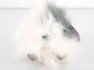 Puffkins Collectible Plush Keychain Key Ring SHAGGS White Gray Fluffy Dog