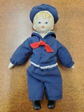 "Vintage Small Bisque Russ Sailor Boy Doll 5"" #1647"